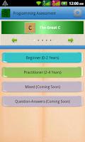 Screenshot of Programming Assessment(Pro)