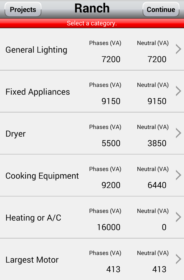 Electrical load calculator 39 14 android apps on google play for Electric motor heat load calculation