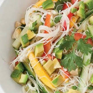 Thai Rice Noodle Salad with Coconut Lime Dressing.
