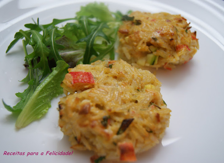 Crabsticks, Rice, and Vegetable Burgers Recipe