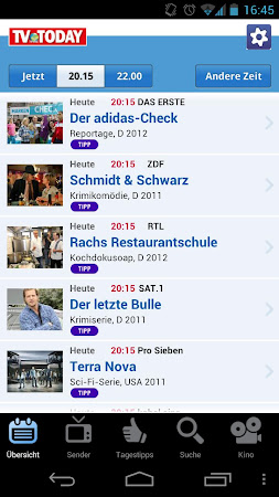 TV Today - TV Programm 1.5.2 screenshot 334448