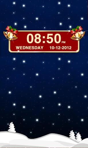 クリスマス時計ウィジェット