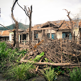 Impact of Merapi Eruption  by Dayan Ramly - Buildings & Architecture Decaying & Abandoned