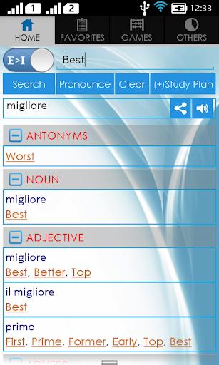【免費書籍App】Italian Dictionary-APP點子