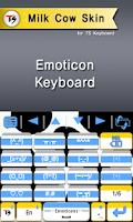 Screenshot of Milk cow Skin for TS Keyboard