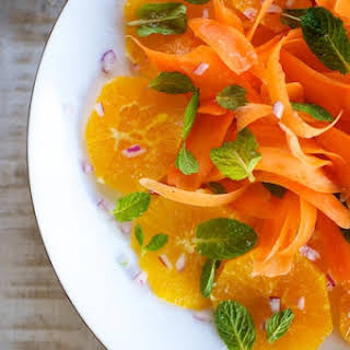 Effortless Clementine, Carrot and Mint Salad.