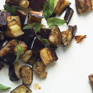 Roasted Eggplant with Basil.