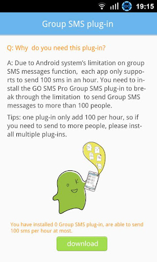 GO SMS Group sms plug-in 5