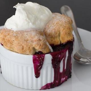 Blueberry Cream Cobbler