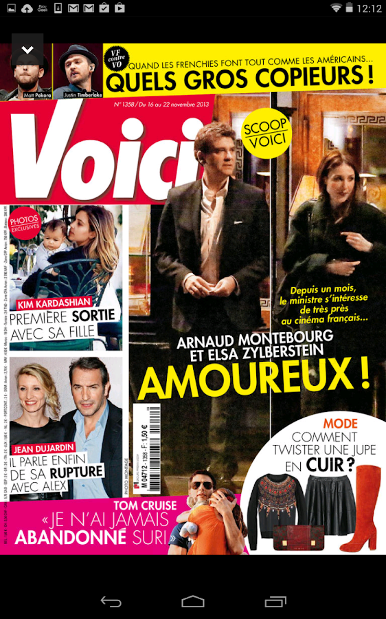 Voici le magazine- screenshot