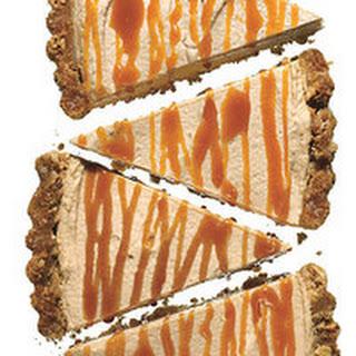 Peanut Butter Pretzel Tart with Caramel Drizzle