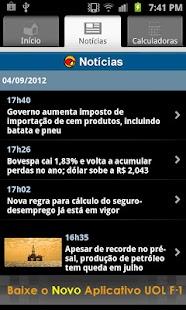 UOL Cotações - screenshot thumbnail