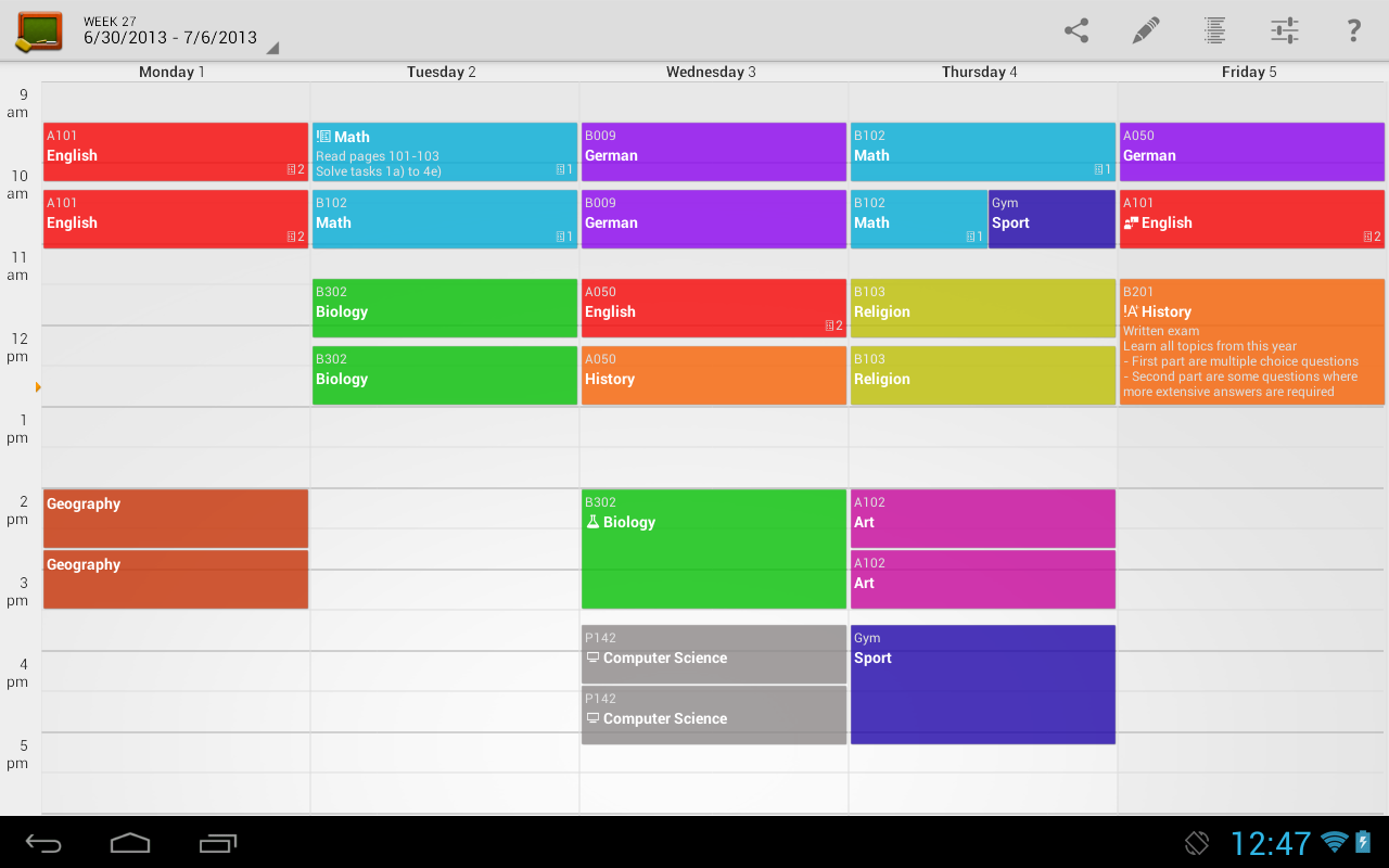 school class schedule maker
