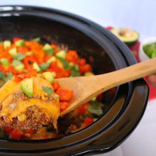 Slow Cooker Quinoa Enchilada Casserole