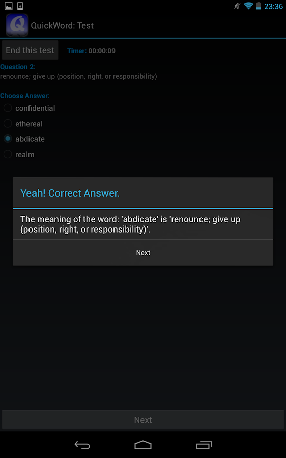 QuickWord for Android- screenshot