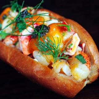 Manon's Off-The-Menu Lobster Roll With Uni And Caviar
