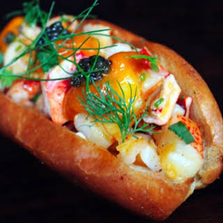 Manon's Off-The-Menu Lobster Roll With Uni And Caviar.
