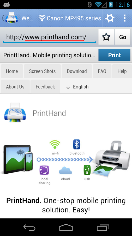 PrintHand Mobile Print Premium - screenshot