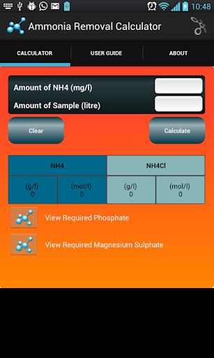 Ammonia Removal Calculator