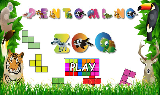 Animals Jigsaw Pentomino Games - screenshot