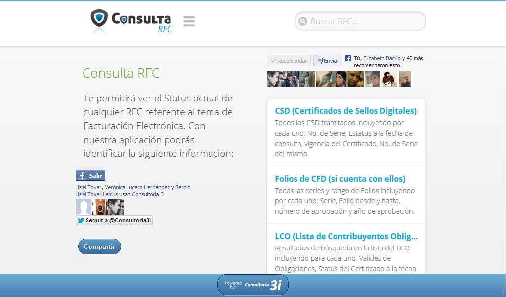 ConsultaRFC- screenshot