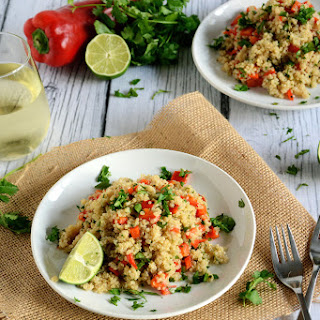Red Pepper and Lime Quinoa Salad.