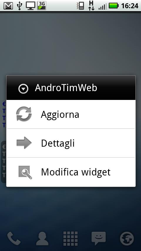 AndroTimWeb Pro via internet - screenshot