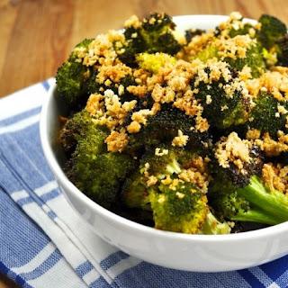 Roasted Broccoli with Pangritata (Breadcrumbs).