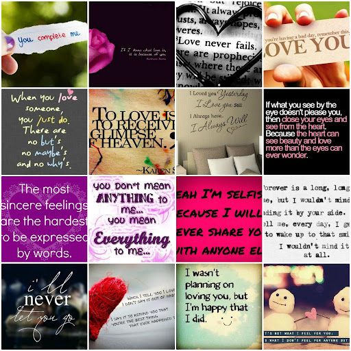 I Love You Quotes Cards