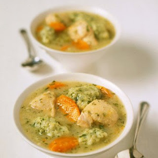 Chicken Soup with Parsley Dumplings.