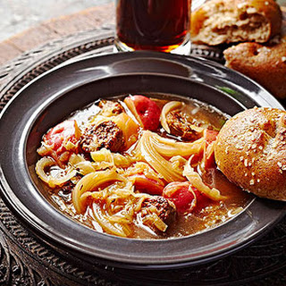 Slow-Cooker Brat and Sauerkraut Soup.