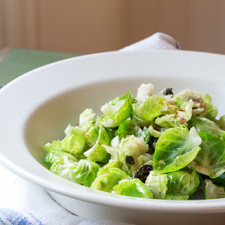 Warm Brussels Sprouts Salad with Caramelized Onions