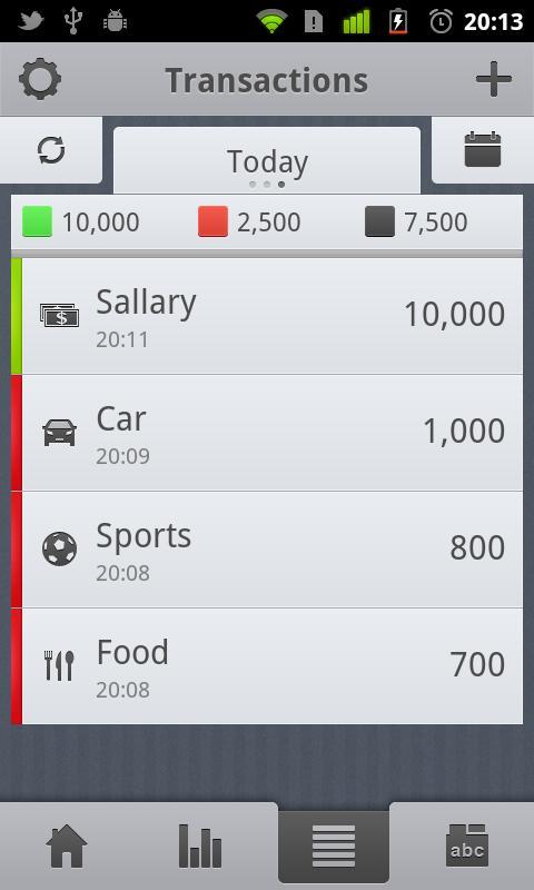 CashTrack - screenshot