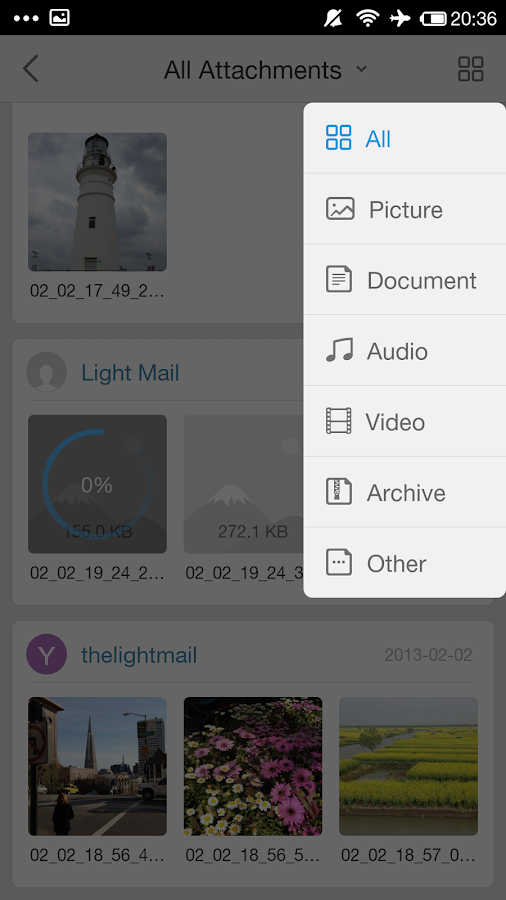 LightMail - Unified Mailbox- screenshot