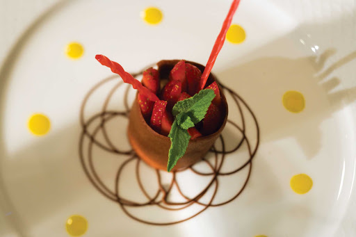 You'll be impressed by the dessert creations available in the restaurants aboard a Regent Seven Seas cruise.