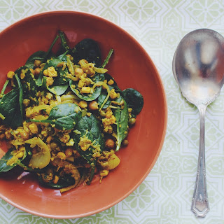 Indian Spiced Chickpea Salad.
