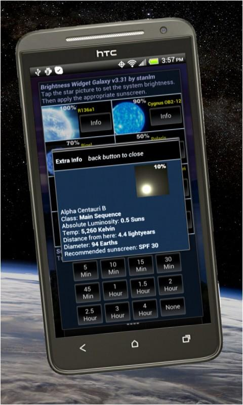 Brightness Widget Supernova- screenshot