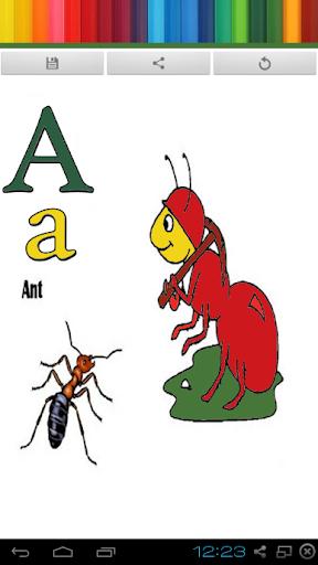 學習ABC字母塗料