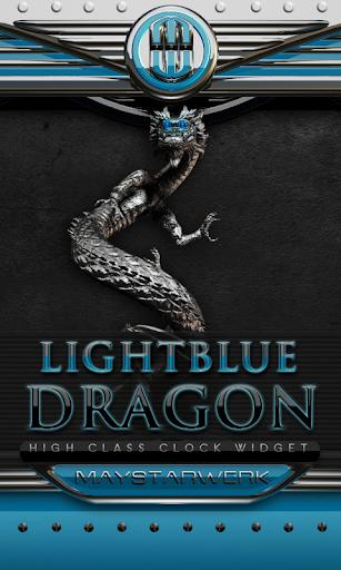 ドラゴン時計ウィジェット ライトブルー