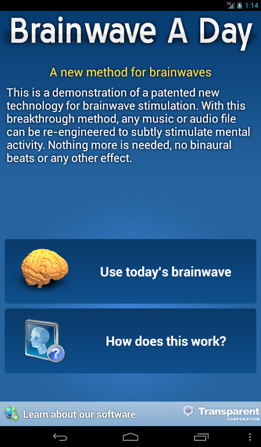 Brainwave A Day - screenshot