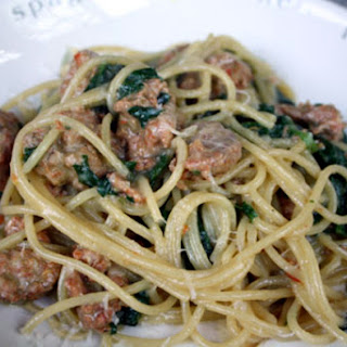 Italian Sausage and Spinach Pasta.