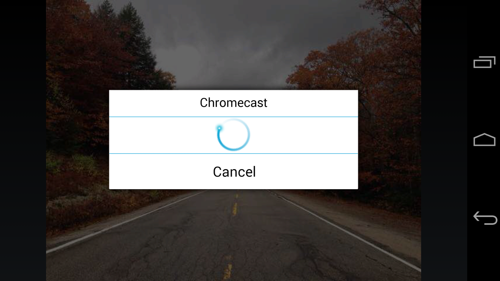 ES Chromecast plugin: captura de pantalla