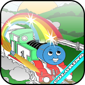 The Train and friend Coloring