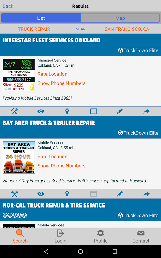 TruckDown Search- screenshot