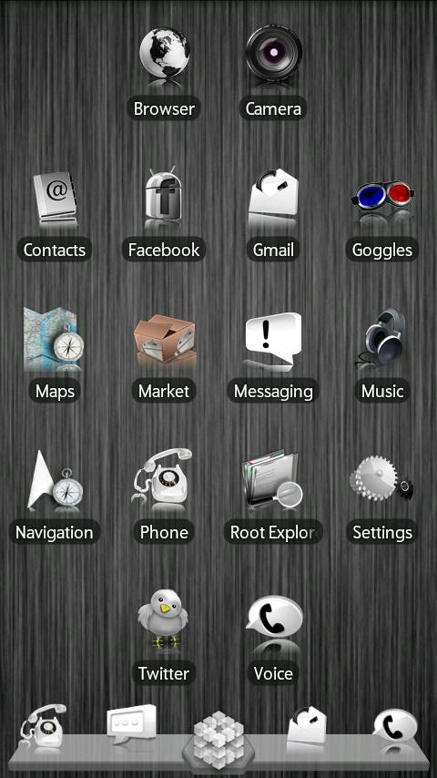 White ADW Theme- screenshot