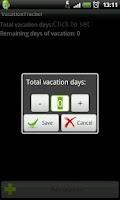 Screenshot of Vacation Tracker