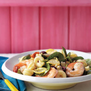 Summer Pasta Salad with Shrimp.