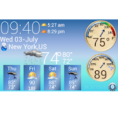 S4 Weather &Temperature Widget