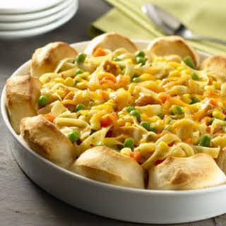 Upside-down Chicken Pot Pie.