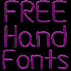 Hand Fuentes para FlipFont® icon